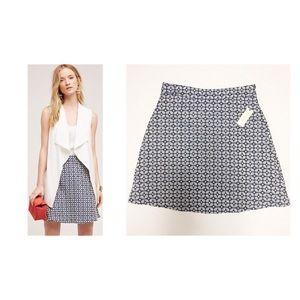 Anthro Hutch Blue Cloverdale Skirt